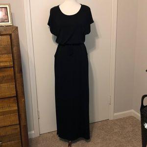 XS Black short sleeve dress w/drawstring waist
